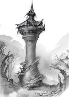 Hog Heaven- The Art of Todd Harris: Rapunzel's Tower