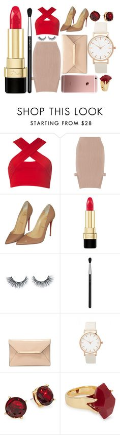 """""""Out for dinner"""" by bernadettegrigalius ❤ liked on Polyvore featuring Motel, Jonathan Simkhai, Christian Louboutin, Dolce&Gabbana, MAC Cosmetics, Lauren Ralph Lauren and Lola Rose"""