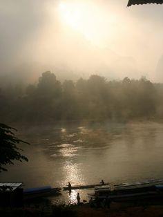 Mekong river, Laos. The Mekong is so peaceful.