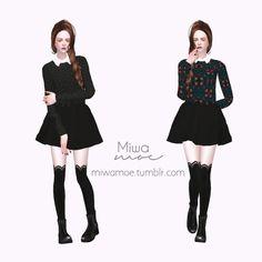 Collar Sweater at Miwamoe via Sims 4 Updates