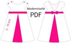 "Patron Robe ""Mademoiselle"" - PDF from Chut Charlotte ! Kids Winter Fashion, Kids Fashion, African Fashion, Chut Charlotte, Kids Summer Dresses, Blog Couture, Baby Leggings, Mademoiselle, Wedding With Kids"