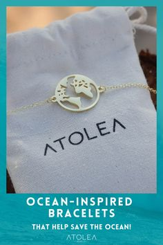 Remember to go out of your comfort zone with this World Bracelet. The world is yours to explore! Discover more minimalist and ocean-themed jewelries at atoleajewelry.com Free shipping worldwide! Contribute in saving the ocean with each of your purchase.