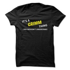 Its a GRIMM thing... you wouldnt understand! - #softball shirt #tshirt text. TRY  => https://www.sunfrog.com/Names/Its-a-GRIMM-thing-you-wouldnt-understand-srbgk.html?id=60505