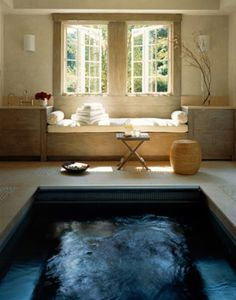 Gorgeous home spa~okay i love the idea of having a home spa nothing wrong with some self-nurture and self-care. Loving this! obviously it'd be a different layout and color schemes but I love the idea of a home spa like this :)