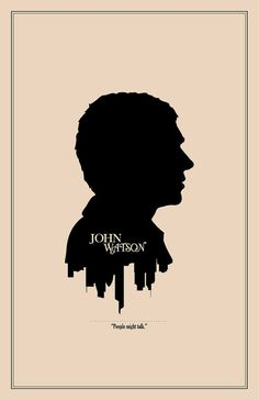 John Watson Silhouette Character Portrait and Quote by TheGeekerie, $18.00