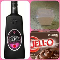 CHOCOLATE ROSE Pudding Shots • 1 Sm. pkg Choc. Instant Pudding • 3/4C Milk • 3/4C Tequila Rose • 1(8oz) tub of Cool Whip ~Whisk milk, liqueur & pudding in a bowl. ~Add in Cool Whip, slowly. ~Spoon into glasses, shot cups, etc...