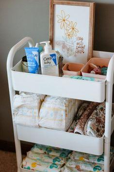 Diaper Storage, Baby Storage, Baby Boy Rooms, Baby Boy Nurseries, Baby Stuff Organization, Changing Table Organization, Diaper Organization, Baby Nursery Organization, Nursery Storage