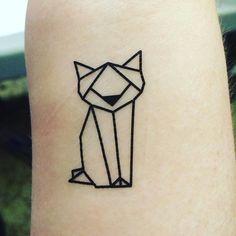Cat-ttoo. #cat #tattoo #geometric #tttattoo #Etsy