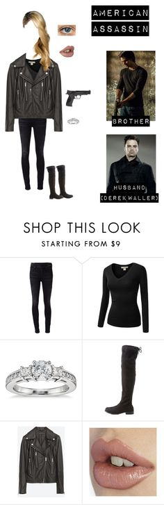 """Me in ""American Assassin"""" by nerdbucket ❤ liked on Polyvore featuring Citizens of Humanity, J.TOMSON, Blue Nile, Charlotte Russe, Zara and Smith & Wesson"