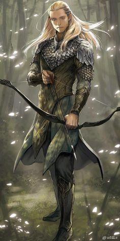 Legolas fan art from The Hobbit Fantasy Male, Fantasy Warrior, Elf Warrior, Tolkien, Legolas Und Thranduil, Gandalf, Elfen Fantasy, Elfa, Wood Elf
