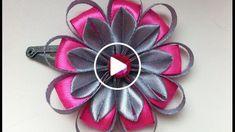 Необычный цветок из узких лент на заколочке клик-клак. Также этот цветочек прекрасно будет смотреться на заколке-крокодильчике, резиночке