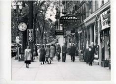 Broadway, between Spring and Phila Streets on May Standing to the right is Thomas F. (Courtesy of Saratoga Springs Historical Museum, George S. Saratoga Springs New York, Old Photography, Tap Room, Historical Photos, Great Photos, Broadway, The Past, Old Things, Street View