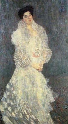 Portrait of Hermine Gallia 1904 by Gustav Klimt (National Gallery - London England) - Art Nouveau Art Nouveau, Art Klimt, National Gallery, Vienna Secession, Carl Larsson, Oil Painting Reproductions, Girl Reading, Art Plastique, Famous Artists
