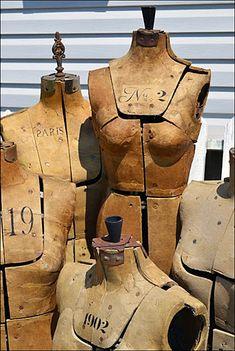 Antique Parisian Dress Forms in Visual Merchandising