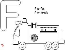 Fire Safety Free F Is For Fire Truck Coloring Page Fire Safety