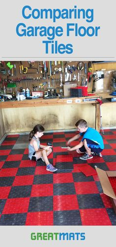 Learn how Greatmats two most popular raised, snap together garage flooring tiles compare and why you'd choose one over the other. Garage Flooring Options, Garage Floor Mats, Garage Storage, Storage Organization, Garage Floor Coatings, Mold And Mildew, Garages, Surface Pattern, Tile Floor