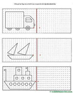 Preschool Worksheets, Preschool Learning, Preschool Activities, Teaching, Math Logic Games, Visual Perceptual Activities, Graph Paper Art, Math For Kids, Drawing For Kids