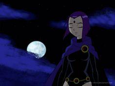 Raven from Teen Titans. She and BB are my faves. Teen Titans Pictures, Raven Pictures, Raven Teen Titans Go, Teen Titans Fanart, Marvel, Fantasma Danny, Raven Cosplay, Raven Beast Boy, Original Teen Titans
