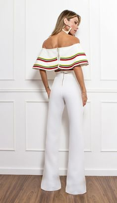 Stunning jumpsuit only White Outfits, Dress Outfits, Fall Outfits, Couture Fashion, Hijab Fashion, Fashion Dresses, Jumpsuit Elegante, Looks Plus Size, Look Cool