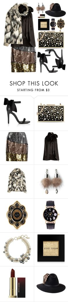 """""""aud lang syne"""" by sinesnsingularities ❤ liked on Polyvore featuring Miss Selfridge, Karl Lagerfeld, Moschino, Yves Saint Laurent, Simons, Gucci, Lanvin, Bobbi Brown Cosmetics, Penmayne of London and contestentry"""