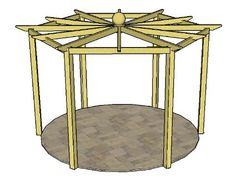Hexagonal Pergola Plans- Making a mini one for the chickens.