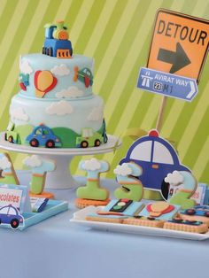 A plane, a car, and a train are coming soon! A little Boy birthday is soon and a Transportation party is … Read Boys First Birthday Party Ideas, Cars Birthday Parties, Baby First Birthday, Birthday Party Decorations, Car Birthday, Mouse Parties, Transportation Birthday, Décor Ideas, Craft Projects