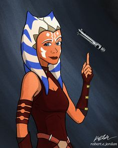 For those of you wondering who's this Ahsoka Tano who's apparently showing up in The Mandalorian, she is one of the main characters of The Clone Wars animated series and damn cool 😎