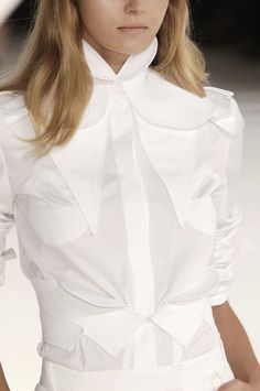 White shirt, reinvented - chic deconstructed fashion details // Givenchy
