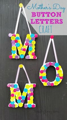 Mothers Day Button Letters Craft