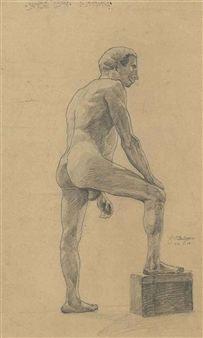 Egos Schiele - Männerakt vom Profile, 1906