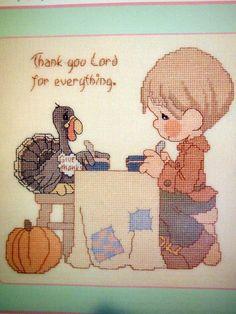 Precious Moments Fall | Precious Moments Sam's Favorites Cross Stitch Book by NeedANeedle, $10 ...