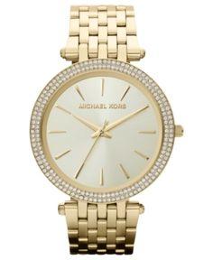 e4412d2acf27 Michael Kors Women s Darci Gold-Tone Stainless Steel Bracelet Watch 39mm  MK3191