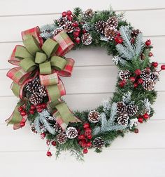 Christmas Wreath Winter Wreath Pine Cone by BrandyByDesignLtd