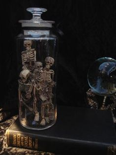 Old Apothecary Jar with Skeletons