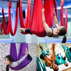 Bright Anti-gravity New Hammock Yoga Equipment Resistance Bands Flying Swing Aerial Traction Device Set Swing Latest Multifunction Belt Fitness & Body Building Yoga