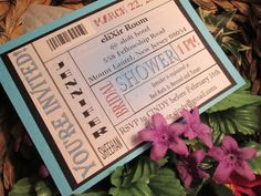 Admit One ticket Bridal shower invitation with by EmptyNestCards, $2.00