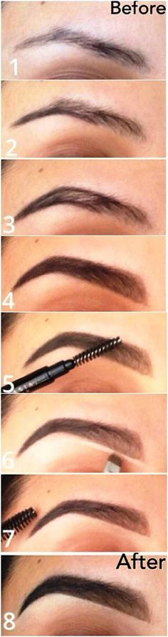 Augenbrauen , how I fill in my eyebrows from now on . <3