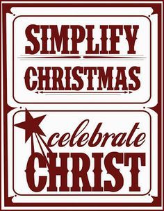 Simply Shelley: Keeping Christmas Simple