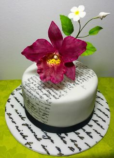 orchid flowers - Cake by Andrea