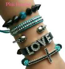 Spiked Out Love and Cross Arm Candy Set