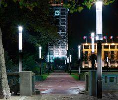 Iluminación urbana-farolas Le Havre.