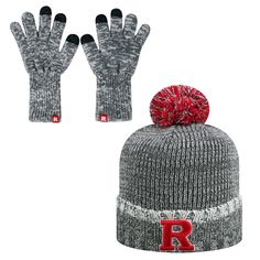 00e363eb190c3 Adult Top of the World Rutgers Scarlet Knights Frostbite Beanie   Glove Set