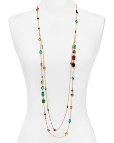 Love all the shapes and colors of the stones in this Carolee Illusion Station Necklace