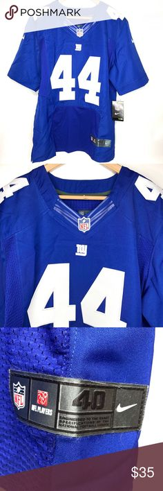 Nike NFL NY Giants  44 Williams On Field Jersey Nike On Field Jersey BRAND  NEW w  TAGS Player   44 Andre Williams 3ad6af97f