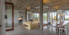 An open-plan layout ensures light-filled interiors.