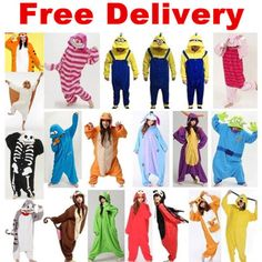 HOT-Unisex-Adult-Pajamas-Kigurumi-Cosplay-Costume-Animal-Onesies-Sleepwear-Suit