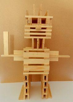 robot knutselen - Google zoeken Science For Kids, Art For Kids, Activities For Kids, Crafts For Kids, Jenga Blocks, Wood Blocks, Create Your Own Robot, Alex Craft, Block Play