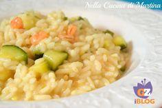 Risotto gamberetti e zucchine
