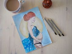#watercolor #watercolorarts #ciąża #pragnant #doula #pragnancy Birth Art, Doula, How To Draw Hands, Hand Painted, Watercolor, Hand Drawn, Handmade, Pen And Wash, Watercolor Painting