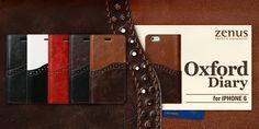 Stoere iPhone 6 bookcase Oxford Diary. Bekijk deze en andere telefoonhoesjes op http://telefoonhoesjes-shop.nl